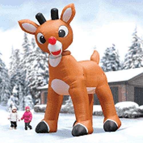 15' Giant Inflatable Rudolph The Red Nosed Reindeer Holiday Yard -