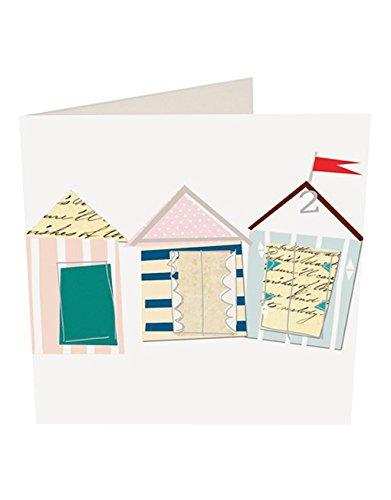 Caroline Gardner - Tarjeta de felicitación en blanco de casetas de playa: Amazon.es: Oficina y papelería