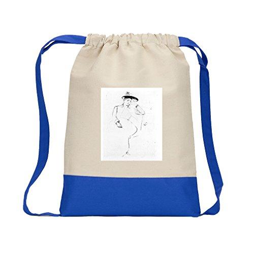Celeste Bank Park (Cassatt) Canvas Backpack Color Drawstring - Royal Blue ()