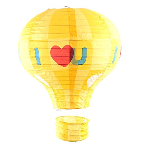 uxcell-Paper-Heart-Pattern-Engagement-Feast-DIY-Lightless-Hanging-Decor-Hot-Air-Balloon-Lantern-10-Inches-Dia-Yellow
