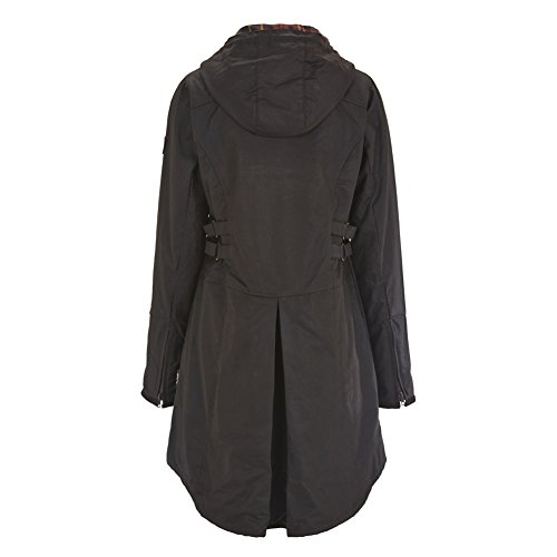 Celtic and Co Womens Wax Riding Style British Made Rain Coat - Dark Brown - Size 14 by Celtic & Co (Image #1)