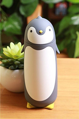 Gray Penguin Stainless Steel Cup Tea Coffee Bottle Flask Travel Mug by Travel Mugs