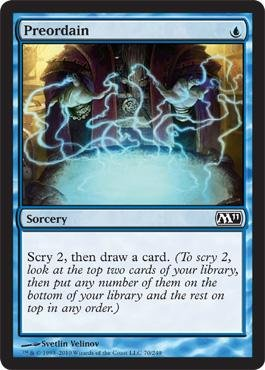 Magic: the Gathering - Preordain - Magic 2011
