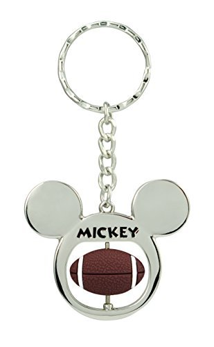 Disney Mickey Mouse Football Spinner Pewter Key Ring Key Accessory
