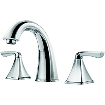 Price Pfister F049SLCC Selia Widespread Bathroom Sink Faucet, Polished  Chrome