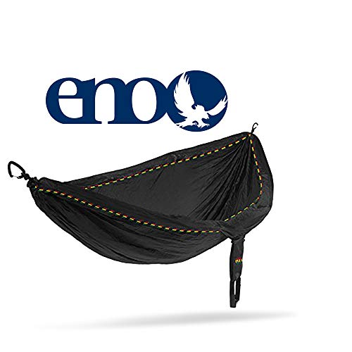 ENO - Eagles Nest Outfitters DoubleNest Hammock, Portable Hammock for Two, Rasta Limited Edition