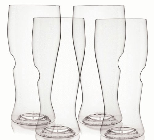 The govino Dishwasher Safe Beer Glasses Flexible Shatterproof Recyclable, 16-ounce, Set of 4