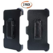 """WallSkiN Turtle Series Replacement Belt Clip Holster """"Compatible with OtterBox Defender Series Case"""" Hands-Free Kickstand for Samsung Galaxy S8 (5.8"""") - 2 Pack"""
