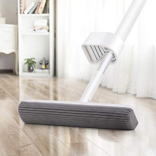 (Sponge Mop Pva Sponge Mop With 2 Absorbent Heads Refills Easy Clean For Home Kitchen Hardwood Laminate Wood Ceramic Tiles Floor Cleaning)