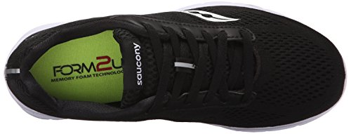Saucony Black Ideal Top Grid Zipper Shoes Walking White Womens Low aaqr7w