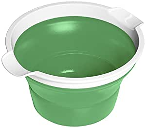 Farberware Fresh Collapsible Bowl, 3-1/2-Quart, Lime Green