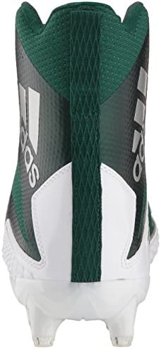 adidas Men's Freak X Carbon Mid Football Shoe, White/Dark Green/Dark Green, 11 M US