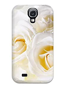 Cheap 2308633K37625350 Case Cover White Roses/ Fashionable Case For Galaxy S4