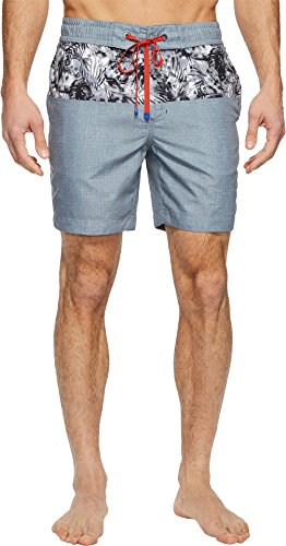 Robert Graham Men's Luau Woven Swim Grey 44 by Robert Graham