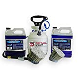 "Plastic 1 Gallon Tire Dressing Tank w/ 3"" & 6"" Brushes & 2 Gallons Dressing"