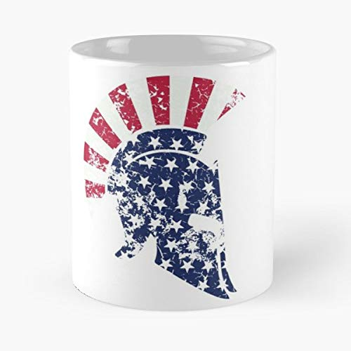 (America American Spartan Sparta Funny Floral Coffee Mugs Gifts)