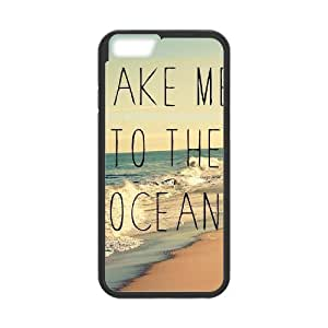 "Iphone6 Plus 5.5"" 2D Custom Phone Back Case with ocean wave Image"