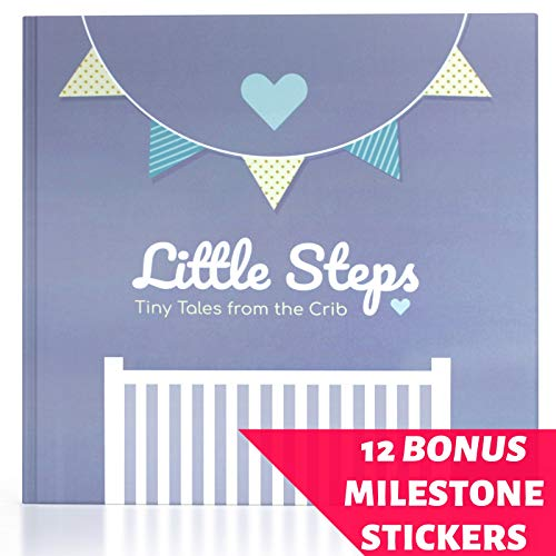 JubyJoy First Year Baby Memory Book – Bonus 12 Monthly Milestone Stickers + Keepsake Envelope, Baby Shower Gift Set for Expecting Parents   Boy & Girl Babies – Photo Album & 5 Year Scrapbook from JubyJoy