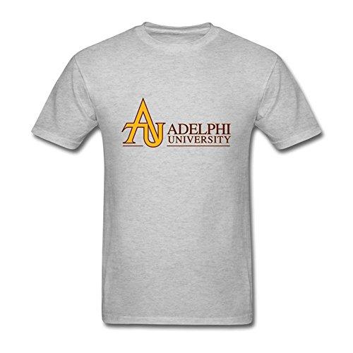 Oryxs Men's Adelphi University Garden City T-Shirt XXXL Grey