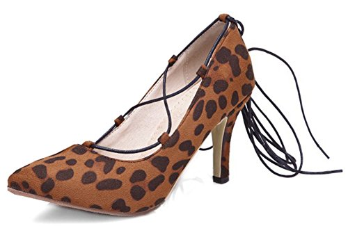 Easemax Moda Donna Tacco Alto A Spillo Tacco Alto Scarpe Con Tacco A Spillo Leopardato