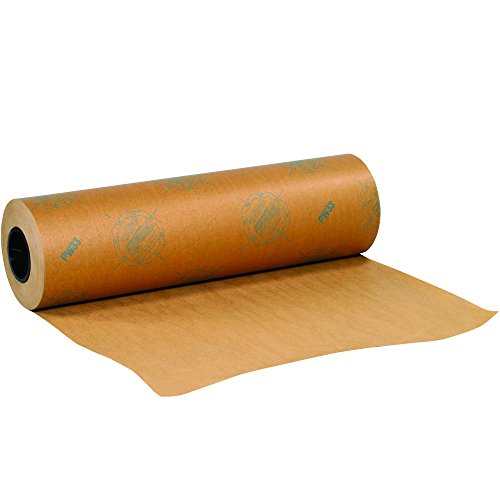 BOX USA BVCI36WAX VCI Paper, Waxed Industrial Rolls, 36 yd. x 200 yd., Kraft by BOX USA