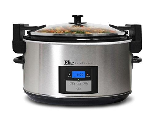 Maxi Matic Elite Platinum 8.5-Quart Slow cooker Brushed stainless steel MST-900VXD