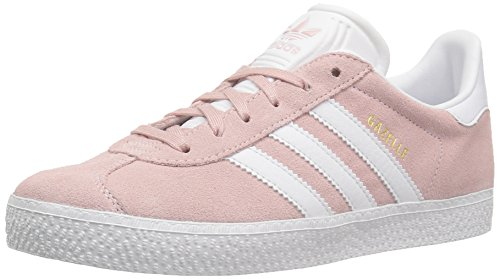 adidas Originals Girls' Gazelle C Sneaker, Ice Pink/White/Metallic Gold, 3 Medium US Little Kid