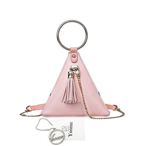 Borse Yoome Tiny per ragazze Piramide a forma di anello circolare Delicate Emroidery Zip Zip catena borsa