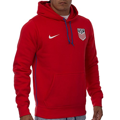 Nike United States OTH Hoody Soccer Sweatshirt (X-Large) Red
