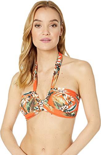 Seafolly Women's Ocean Alley Twist Front Bandeau Bikini Top Tangelo 12 US