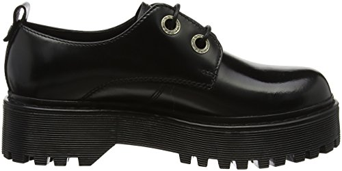 Derby Cult Donna Basse Nero 1702 black Scarpe Stringate Low Slash CtwFaqRx