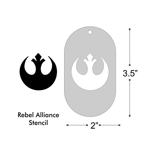 Stencil - Rebel Alliance emblem, (Star Wars Face Paint)