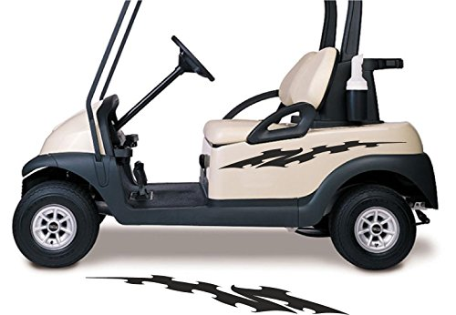 Fit EZGO club Car Yamaha Flames Golf Cart Go Kart Decals Stickers Auto Truck Racing Graphics (Flame Decal Graphic Sticker)