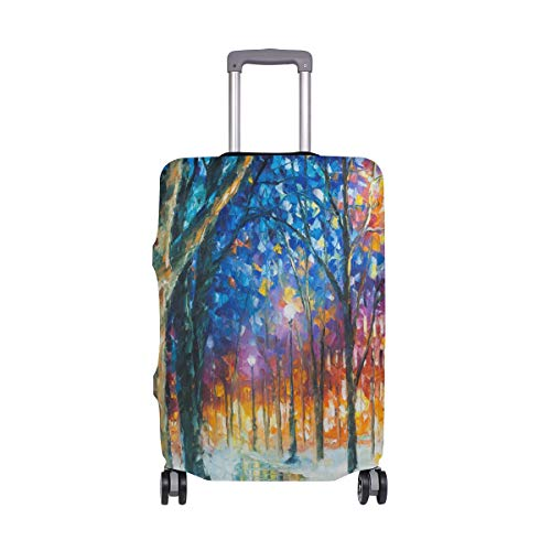 LORVIES Tropics Oil Painting Print Travel Luggage Protective Covers Washable Spandex Baggage Suitcase Cover - Fits 18-32 Inch (Tropic Top Lycra)