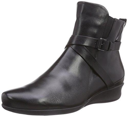 Ecco Women's Abelone Cross Buckle Boot - Black - 5-5.5 B(...