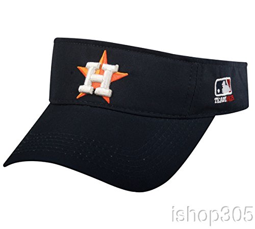 MLB Official Replica Baseball Visor Various Team Hat Adjustable MLB Licensed , Houston Astros - Home by OC Sports