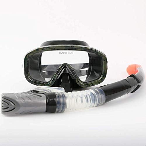 ダイビングゴーグル、スイミングスポーツ用品ゴーグルフルドライシュノーケルセット大人用シュノーケリングマスク