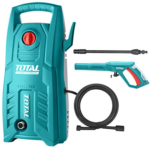 Total 1400-WATT High Pressure Washer 130Bar (1900PSI) with TSS Auto Shut Off and 100% Copper Wire Carbon Brush Motor 1