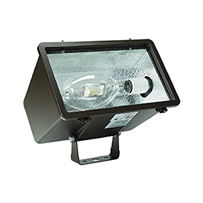 Hubbell Outdoor MHS-Y150P8 Miniliter V Flood Yoke 150W PS Quad-Tap with Lamp, Dark Bronze