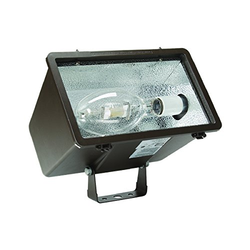 Hubbell Outdoor MHS-K250P8 Miniliter V Flood Knuckle 250W PS Quad-Tap with Lamp, Dark Bronze by Hubbell Outdoor