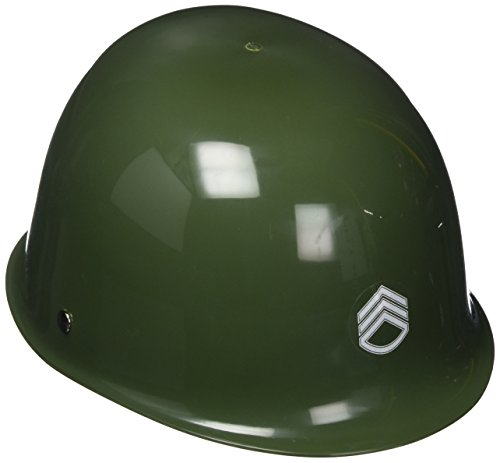Jacobson Hat Company Child's Plastic Netted Army Helmet, Green - Toy Soldier Green Costume