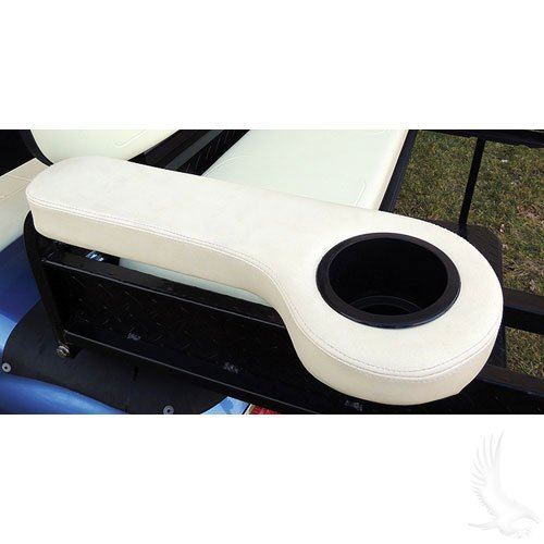Universal Golf Cart Rear Seat Arm Rests with Cup Holders -
