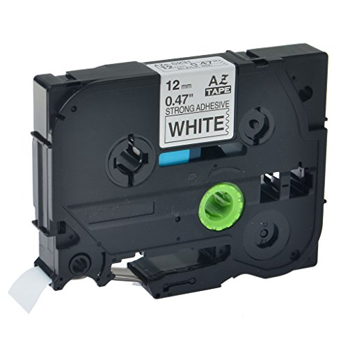 NineLeaf 1PK Black on White 12mm 0.47'' Label Tape Compatible For Brother TZeS231 Tze-S231 TZ-S231 TZS-231 P-touch PT-D210 Label Maker