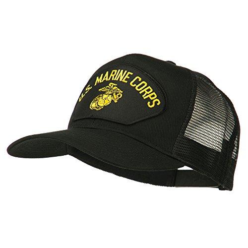 E4hats US Marine Corps Mesh Patched Cap - Black OSFM