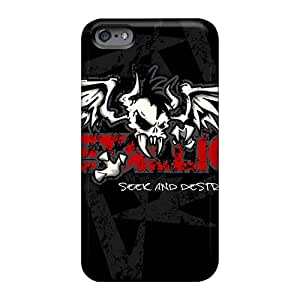 AshleySimms Iphone 6 Shock Absorbent Hard Phone Case Allow Personal Design Trendy Metallica Band Pictures [cRT11850wjjm]