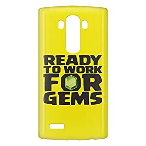 Loud Universe LG G4 Ready to Work for Gems Print 3D Wrap Around Case - Yellow