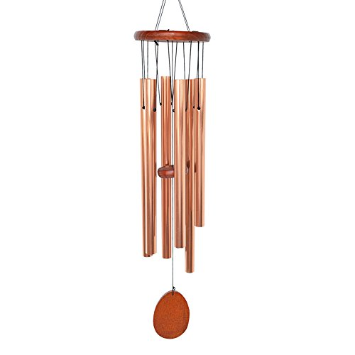 BLESSEDLAND Wind Chimes, 6 Hollow Aluminum Tubes Tuned 35.5 Music Wind Chime with S Hook for Indoor and Outdoor