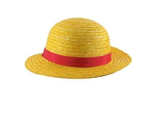 Tanboo One Piece Anime Monkey D. Luffy Straw Hat Cap Cosplay (Yellow), Doll & Animation by Tanboo