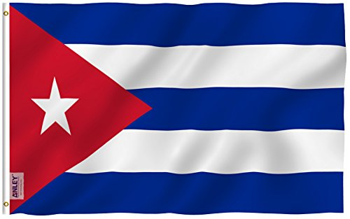 ANLEY [Fly Breeze] 3x5 Foot Cuba Flag - Vivid Color and UV Fade Resistant - Canvas Header and Double Stitched - Cuban National Flags Polyester with Brass Grommets 3 X 5 (Cuba Nylon)