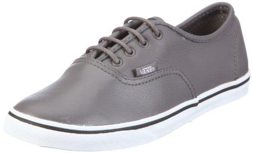 Vans U AUTHENTIC LO PRO (Leather) grey VGYQLAL - Zapatillas de cuero unisex Gris (Grau/(Leather) grey)